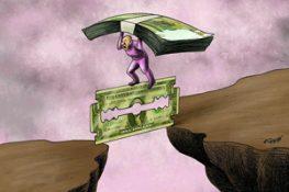 رابطه دلار و ریال چگونه است و چرا روز به روز ارزش ریال کم می شود؟ بخش واقعی اقتصاد ایران با ژیان حرکت می کند و نقدینگی بانک ها با فضاپیما