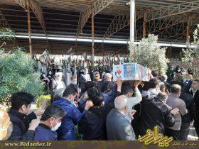 تشییع باشکوه پیکر شهید کامبیز مرادی نسب در دزفول